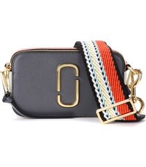 the marc jacobs snapshot shoulder bag in gray, white and orange