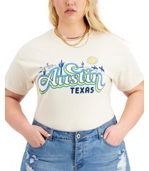 love tribe trendy plus size austin cotton t-shirt