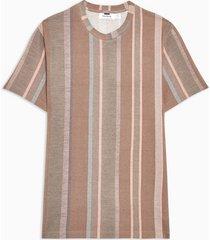 mens brown taupe stripe t-shirt
