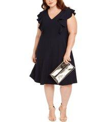 jessica howard plus size ruffled a-line dress