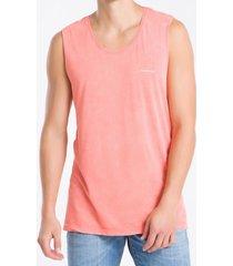 camiseta regata masculina summer is the season laranja calvin klein jeans - ggg