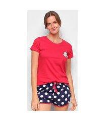 pijama evanilda turma da mônica feminino