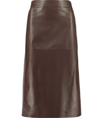 fabiana filippi leather pencil skirt
