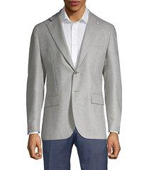 modern fit silk & wool sport coat