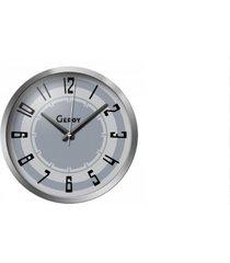 zegar ścienny szary cichy w obudowie metalowej