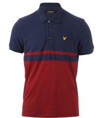 mens panel stripe polo shirt