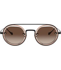giorgio armani giorgio armani ar6085 matte black / bronze sunglasses