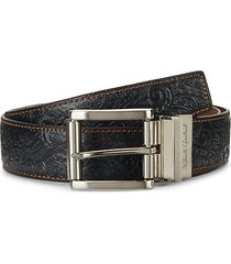 textured reversible leather belt