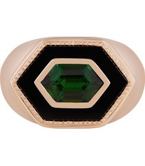 o thongthai 14kt yellow gold onyx signet ring