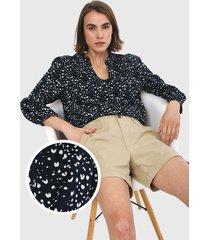 blusa azul navy-blanco gap
