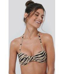 na-kd swimwear knot bikini bandeau top - multicolor