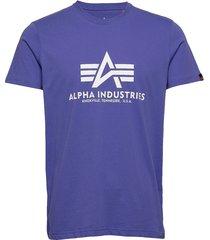 basic t-shirt t-shirts short-sleeved blå alpha industries