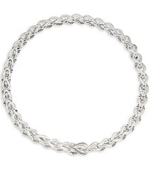 asli classic chain sterling silver choker necklace