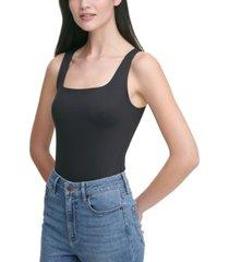 calvin klein jeans square-neck bodysuit