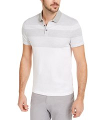 alfani men's twill striped polo shirt, created for macy's