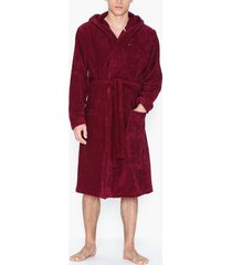 tommy hilfiger towelling robe morgonrockar red