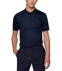 boss men's mercerized-cotton slim-fit polo
