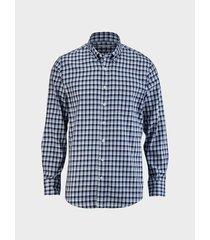 camisa cuadros manga larga para hombre 01877