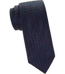 dotted floral embroidery silk tie