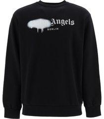 palm angels sweatshirt berlin sprayed logo
