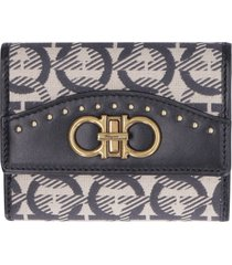 salvatore ferragamo fabric wallet with printed logo