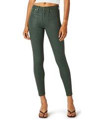 hudson women's barbara high-rise coated super stretch jeans - high shine - size 27 (4)