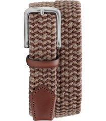 men's trask falcon woven belt, size 40 - khaki italian woven
