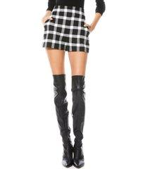women's alice + olivia donald check shorts, size 0 - black