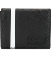 bally barvyn coated canvas wallet - black