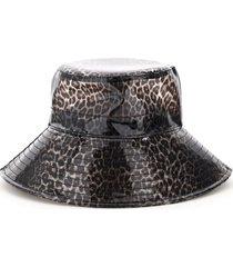 maison michel charlotte leopard pvc bucket hat