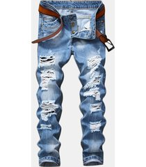 jeans con strappi slim fit