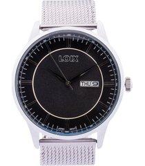 reloj loix ref l2003-05 plata/negro