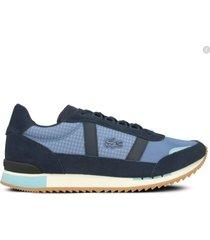 zapatilla azul lacoste partner retro 120