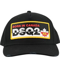 dsquared2 patch cargo baseball cap