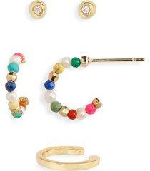 women's kendra scott scarlet set of 2 earrings & ear cuff