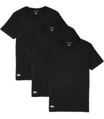 lacoste men's 3-pk. essential cotton crew regular fit undershirt