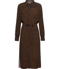 pzmyla dress jurk knielengte bruin pulz jeans
