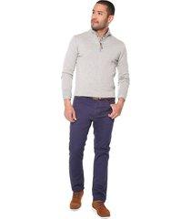 pantalon azul 15-2863 preppy 5 bolsillos 98% algodón 2% elastano