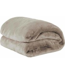 cobertor casal manta microfibra fleece 01 peã§a - bege - dafiti