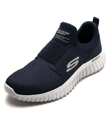 tenis training azul-gris skechers depth charge 2.0