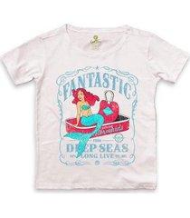 camiseta ampla cool tees sereias em conservas feminina - feminino