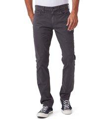 men's paige federal slim straight leg twill pants, size 38 - grey