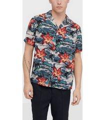 topman surfer orchid revere shirt skjortor multicolor