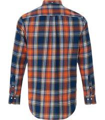 regular fit overhemd van 100% katoen van gant blauw