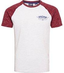 speedway raglan tee t-shirts short-sleeved grå superdry
