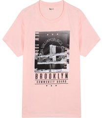 camiseta hombre broklyn color rosado, talla xl