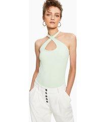 bar iii solid versatile-strap bodysuit, created for macy's