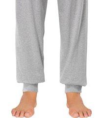 schiesser pyjama zwart-grijs met boord