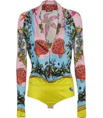 versace printed bodysuit