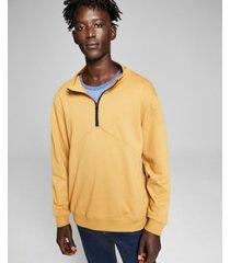 and now this men's seamed half zip sweatshirt